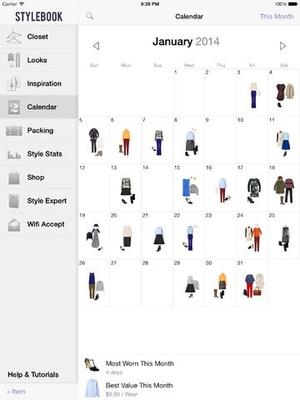 Screenshot Stylebook on iPad