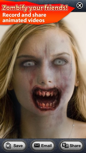 Screenshot ZombieBooth Pro on iPhone