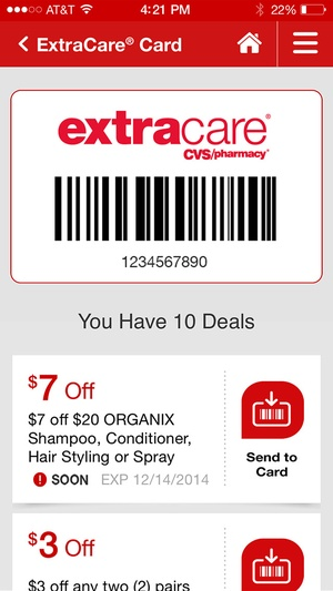 Screenshot CVS Pharmacy on iPhone