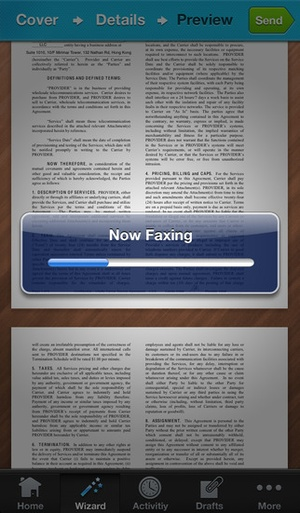 Screenshot iFax on iPhone