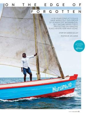 Screenshot ISLANDS Magazine on iPad