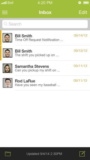 Screenshot HotSchedules on iPhone