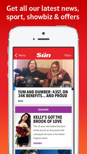 Screenshot The Sun Mobile: For breaking news, the latest showbiz gossip & sports coverage on iPhone