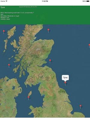 Screenshot Ship Forecast on iPad