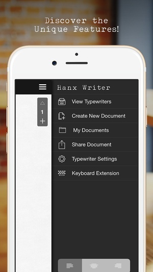 Screenshot Hanx Writer on iPhone
