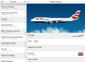 Screenshot Airline Finder on iPad
