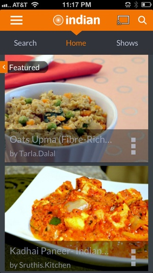 Screenshot Indian Recipes by ifood.tv on iPhone