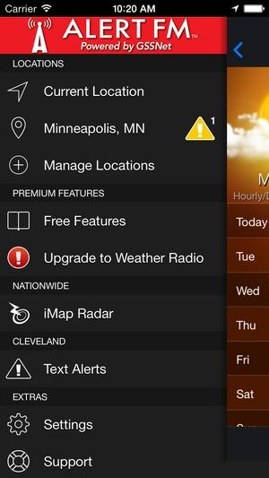 Screenshot ALERT FM on iPhone