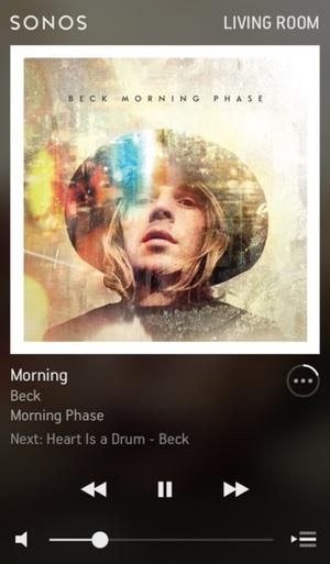 Screenshot Sonos Controller on iPhone