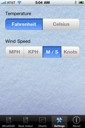 Screenshot WindChill Please! on iPhone