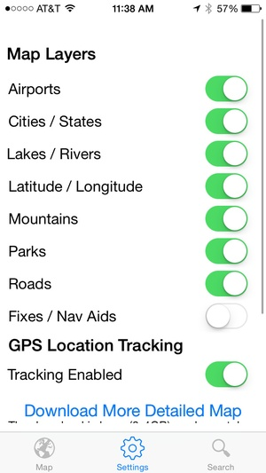 Screenshot flyguide for crew on iPhone
