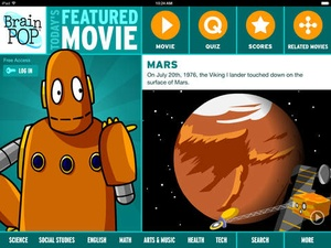 Screenshot BrainPOP Featured Movie on iPad