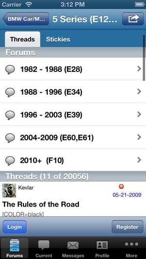 Screenshot Bimmerforums.com on iPhone