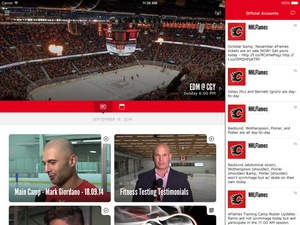Screenshot Calgary Flames on iPad