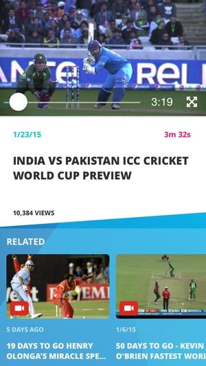 Screenshot ICC Cricket World Cup 2015 on iPhone