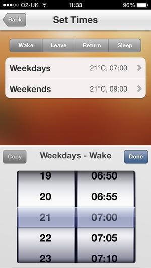 Screenshot Heatmiser Neo on iPhone