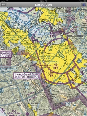 Screenshot AirWX Aviation Weather on iPad