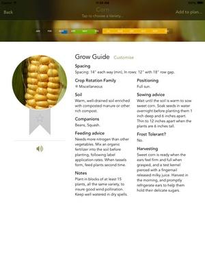 Screenshot Old Farmer's Almanac Garden Planner on iPad