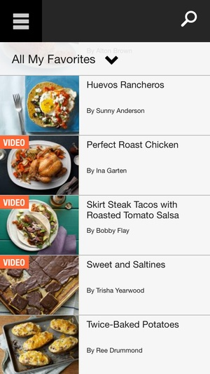 Screenshot Food Network In the Kitchen on iPhone