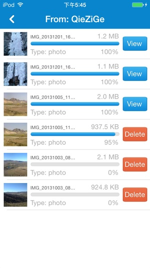 Screenshot SHAREit on iPhone