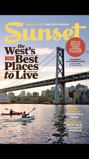 Screenshot SUNSET Magazine on iPhone