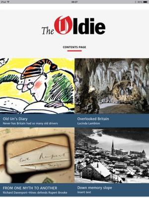 Screenshot The Oldie magazine on iPad