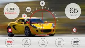 Screenshot Speed gun to measure vehicle speed on iPhone