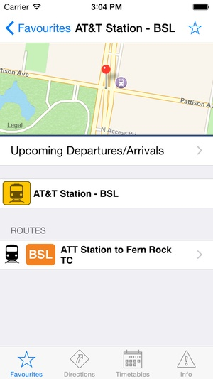 Screenshot TransitTimes Philly on iPhone