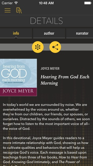 Screenshot Hearing From God [by Joyce Meyer] on iPhone