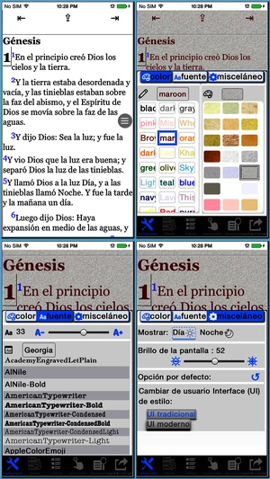 Screenshot Santa Biblia Version Reina Valera on iPhone