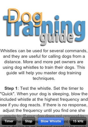 Screenshot Dog Whistle Elite (Training Guide + Clicker included) on iPhone