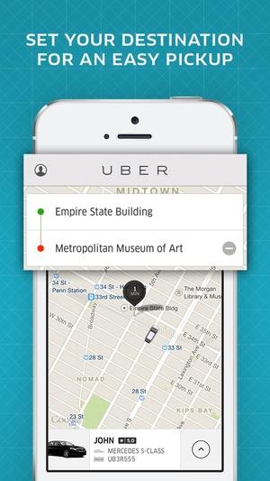 Screenshot Uber on iPhone