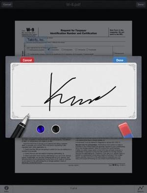Screenshot SignPDF Pro on iPad