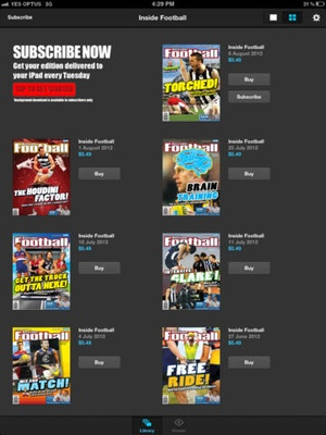 Screenshot Inside Football on iPad