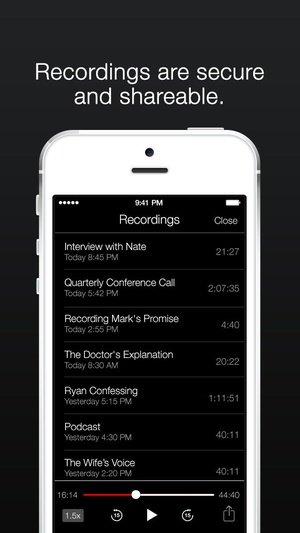Screenshot TapeACall Lite on iPhone