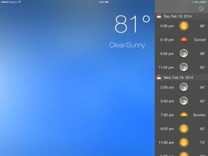 Screenshot Weather 2x on iPad