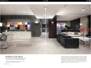 Screenshot Florida Design Magazine on iPad
