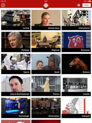 Screenshot Radio on iPad