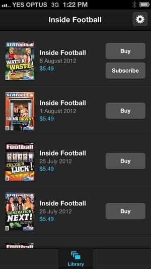 Screenshot Inside Football on iPhone