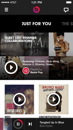 Screenshot Beats Music on iPhone