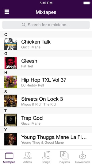 Screenshot Spinrilla - Mixtapes For Free on iPhone
