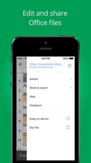Screenshot Google Sheets on iPhone