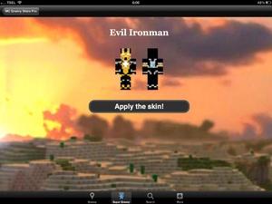 Screenshot Creeper Skins Maker for Minecraft Free Edition on iPad