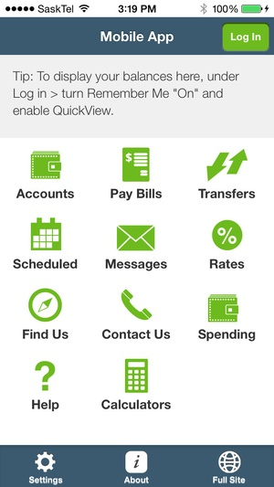 Screenshot Innovation Credit Union Mobile Banking on iPhone