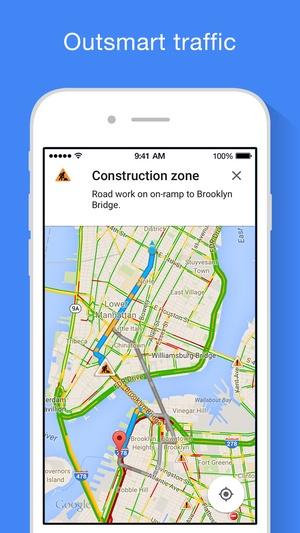 Screenshot Google Maps on iPhone