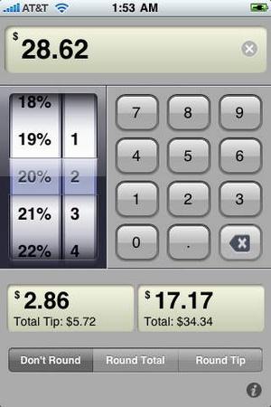 Screenshot Classic Tip Calculator on iPhone