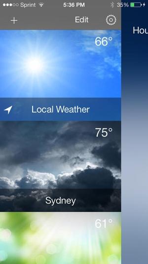 Screenshot Weather 2x on iPhone
