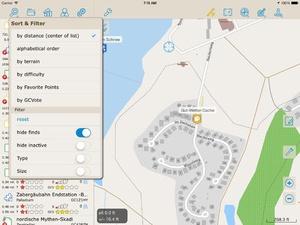 Screenshot Looking4Cache Pro on iPad