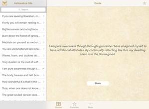 Screenshot Ashtavakra Gita Quotes on iPad