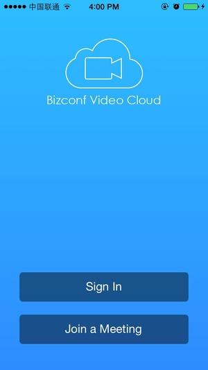 Screenshot Bizconf Video on iPhone